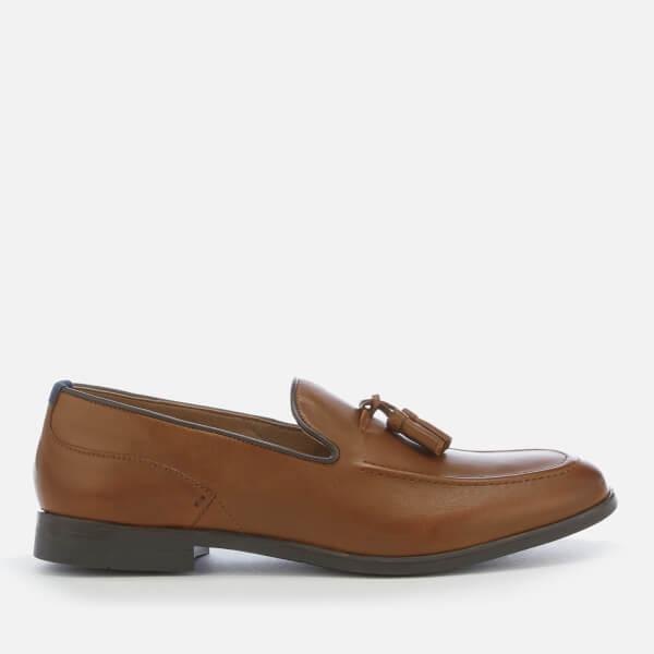 Hudson London Men's Aylsham Leather Tassle Loafers - Tan