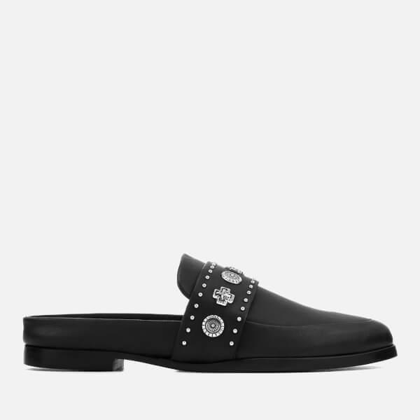 Sol Sana Women's Tuesday II Leather Slide Loafers - Black