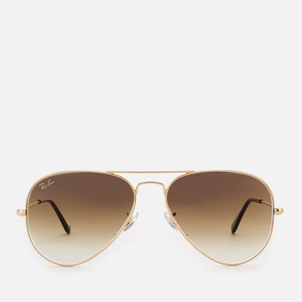 Ray-Ban Men's Aviator Metal Frame Sunglasses - Gold