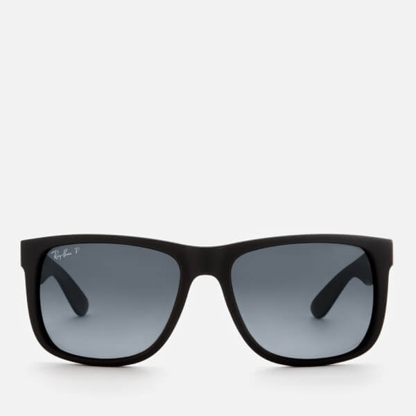 Ray-Ban Men's Justin Square Frame Sunglasses - Black Rubber