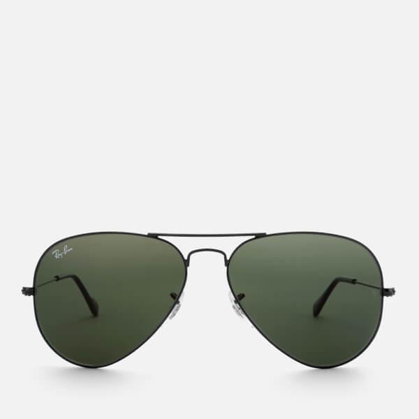 Ray-Ban Men's Aviator Metal Frame Sunglasses - Black