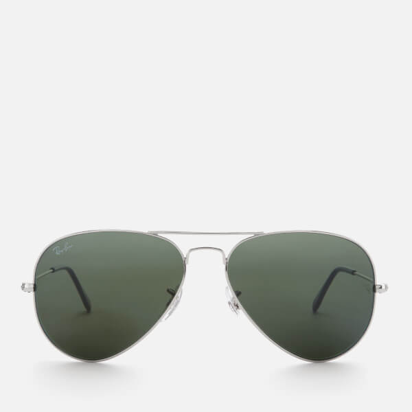 Ray-Ban Men's Aviator Metal Frame Sunglasses - Silver