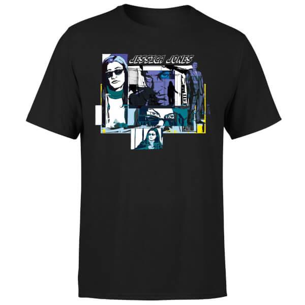 Marvel Knights Jessica Jones Comic Panels Men's T-Shirt - Black