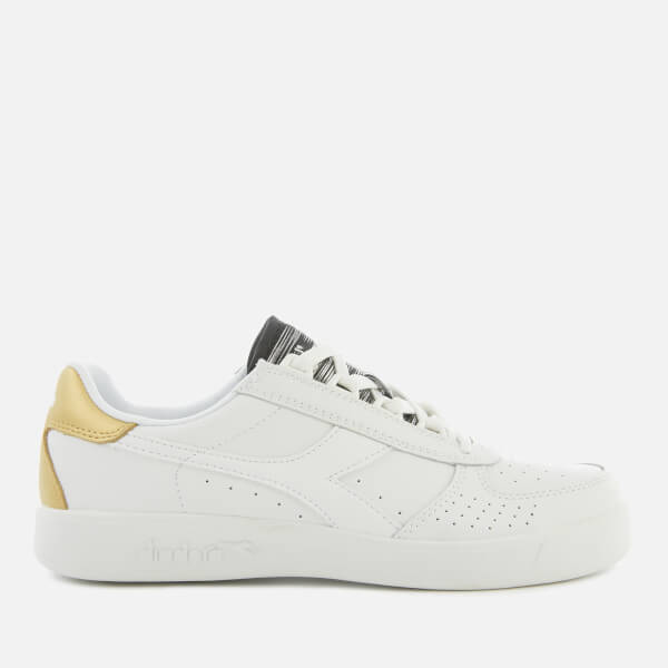 Diadora Women's B Elite Trainers - White/Gold