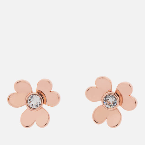 Ted Baker Women's Hansila: Heart Blossom Stud Earrings - Rose Gold/Crystal