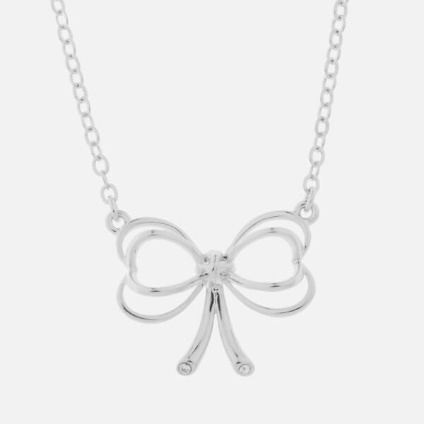 Ted Baker Women's Lahri: Small Heart Bow Pendant - Silver/Crystal