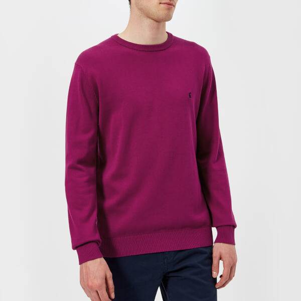 Joules Men's Jarvis Crew Neck Knitted Jumper - Rock Rose