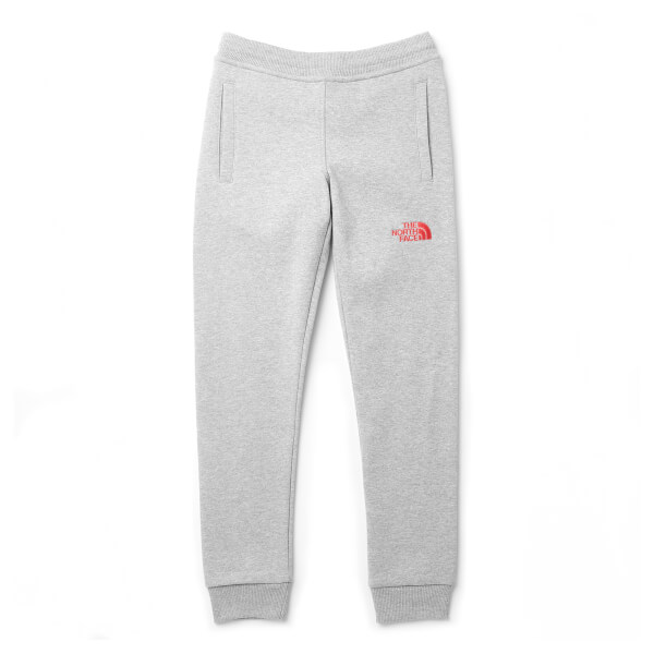 The North Face Boys' Youth Fleece Pants - TNF Light Grey Heather/Atomic Pink