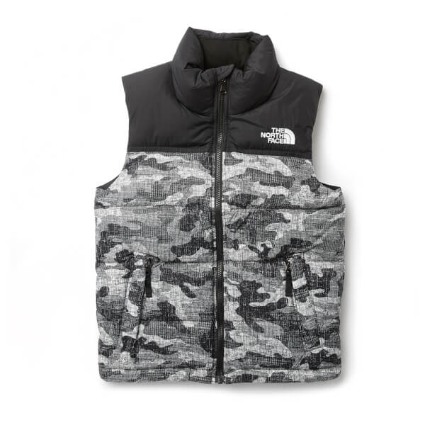 d3e5f8038b The North Face Boys  Nuptse Down Vest - TNF Black Textured Camo Print  Image