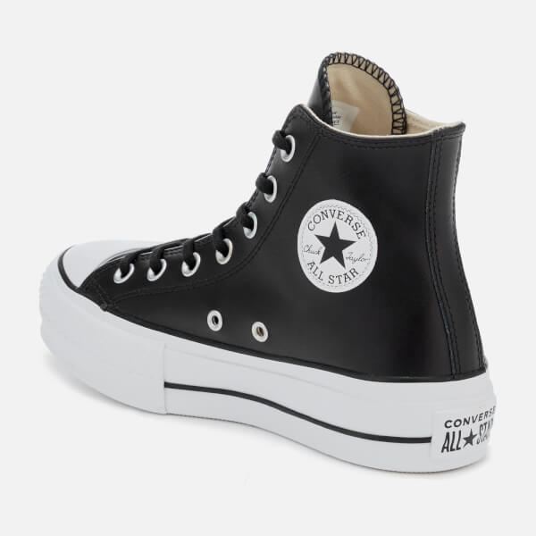 56a4ce937dd Converse Women s Chuck Taylor All Star Lift Clean Hi-Top Trainers - Black  White