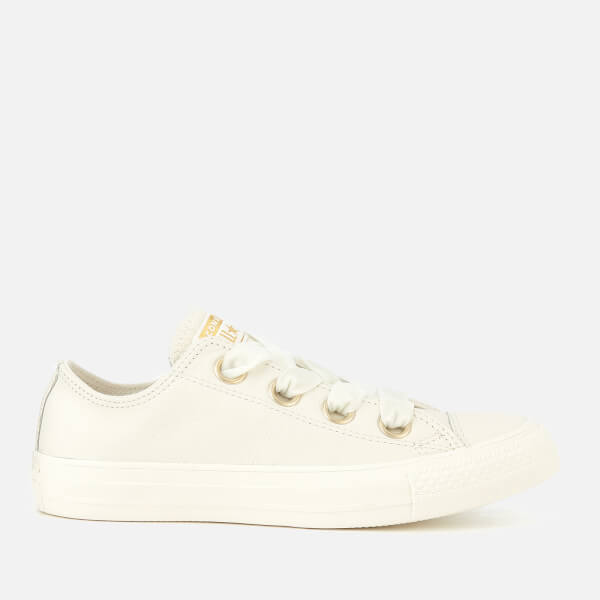 3b53562e760551 Converse Women s Chuck Taylor All Star Big Eyelets Ox Trainers - Vintage  White  Image 1