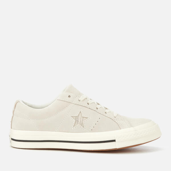 Converse Women's One Star Ox Trainers - Egret/Gold/Black