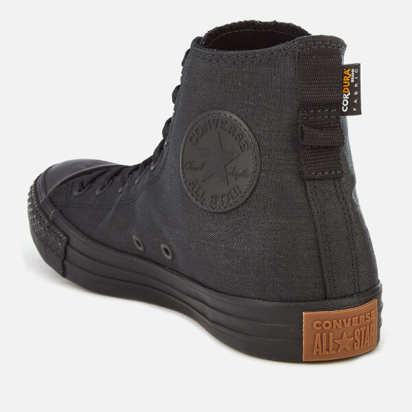 low priced 0c045 3f26c Converse Men s Chuck Taylor All Star Cordura Hi-Top Trainers - Black Brown