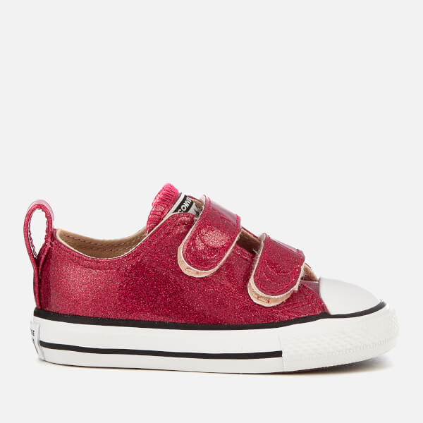 7165f3a7722e43 Converse Toddlers  Chuck Taylor All Star 2V Ox Trainers - Pink Pop Natural