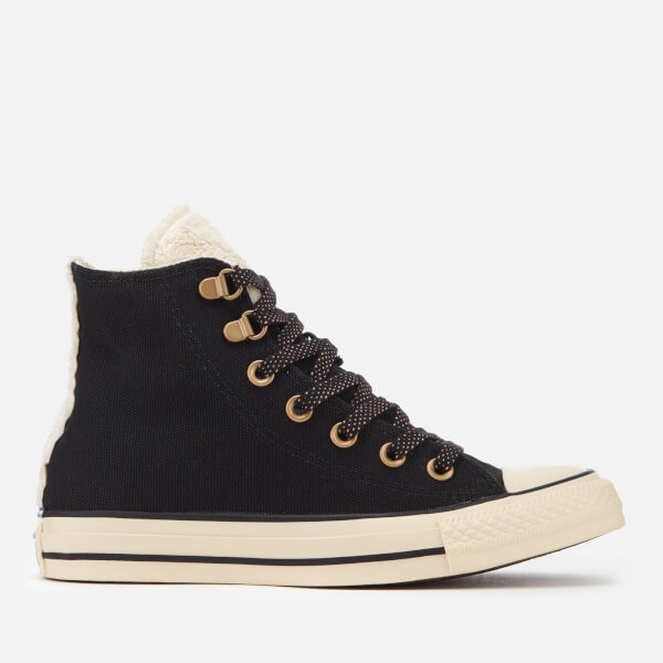Converse Women s Chuck Taylor All Star Hi-Top Trainers - Black Natural  Ivory  49db2ccbae