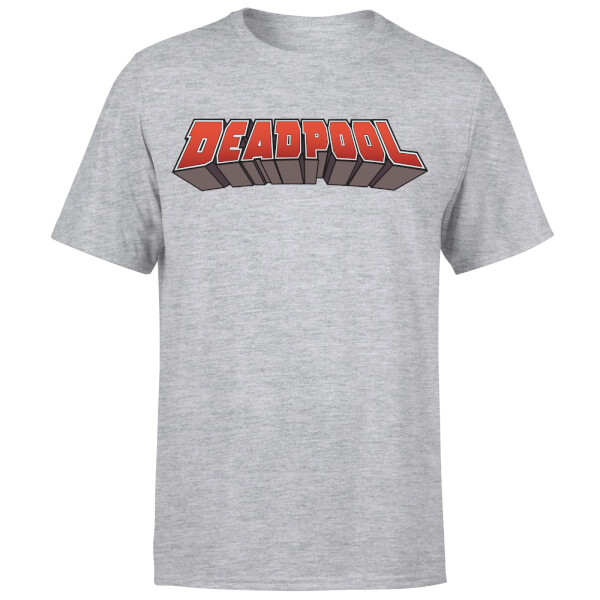 Marvel Deadpool Logo Men's T-Shirt - Grey