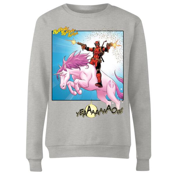 Marvel Deadpool Unicorn Battle Women's Sweatshirt - Grey