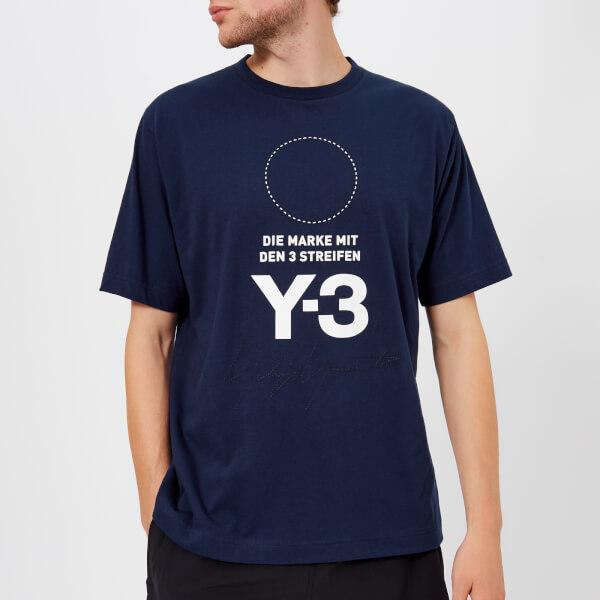 Y-3 Men's Stacked Short Sleeve T-Shirt - Night Indigo