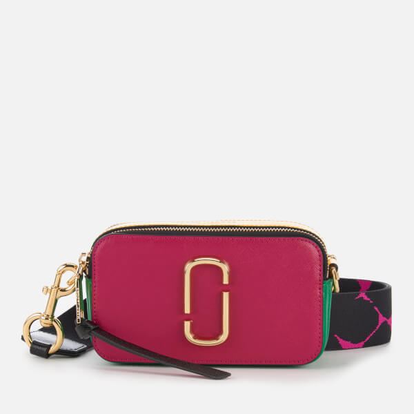 Marc Jacobs Women's Snapshot Cross Body Bag - Magenta/Multi
