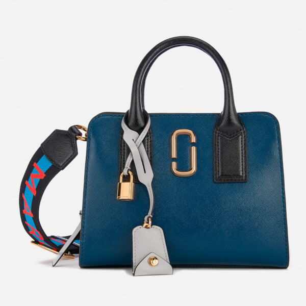 db299185b32 Marc Jacobs Women's Little Big Shot Tote Bag - Blue Sea/Multi: Image 1