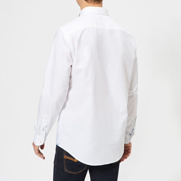 4bbcc2b7d4bc27 Tommy Hilfiger Men s Engineered Oxford Long Sleeve Shirt - Bright White   Image 2