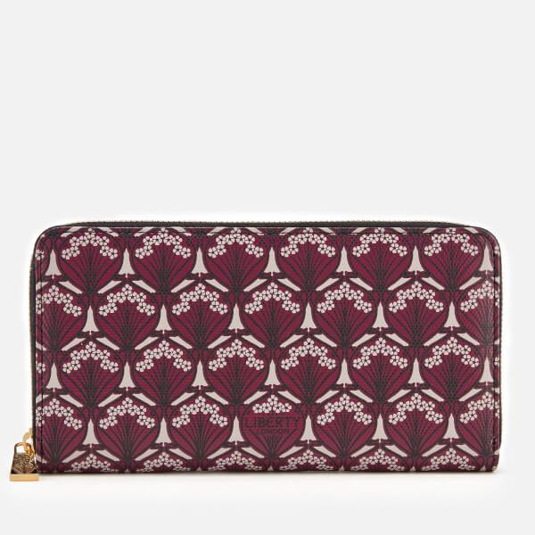 Liberty London Women's Iphis Large Zip Wallet - Oxblood