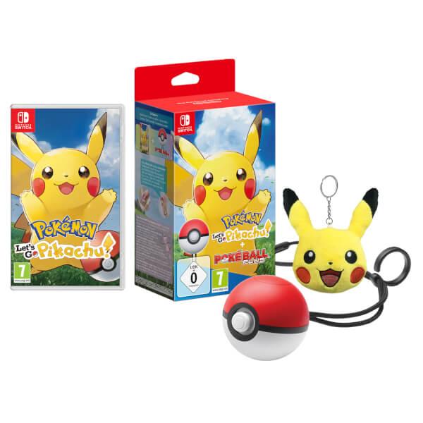 Pokémon: Let's Go, Pikachu! + Poké Ball Plus Pack + Pikachu Keychain