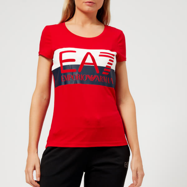 Emporio Armani EA7 Women's Train Master Short Sleeve T-Shirt - Tango Red