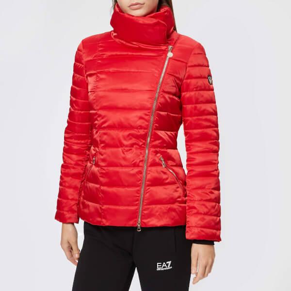 Emporio Armani EA7 Women's Mountain Eco Down Heavy Jacket - Tango Red