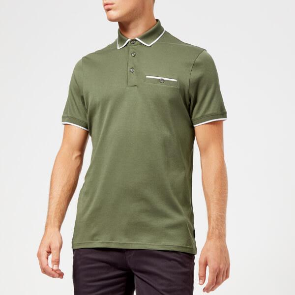 8d54f65dd0fd7f Ted Baker Men s Jelly Polo Shirt - Khaki Clothing