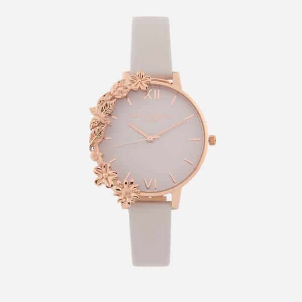 Olivia Burton Women's Case Cuffs Watch - Blush & Rose Gold
