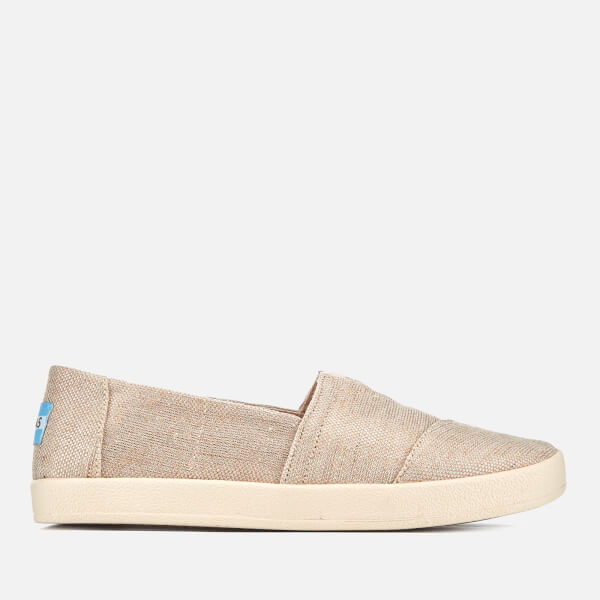 Toms Women's Avalon Vegan Cupsole Slip On Pumps   Rose Gold by Toms
