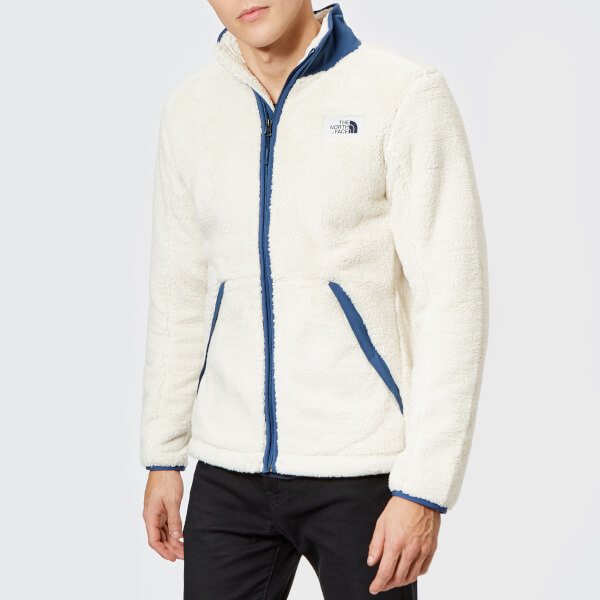c53231aac33 The North Face Men s Campshire Full Zip Pile Fleece - Vintage White Shady  Blue