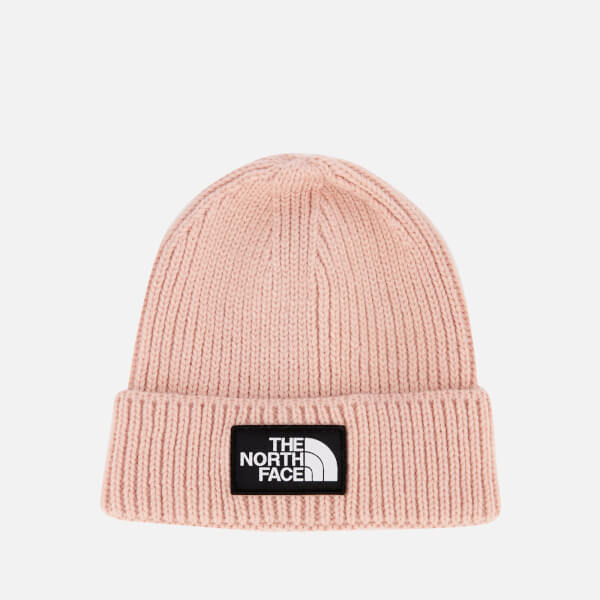 The North Face Women s TNF Logo Box Cuffed Beanie - 3Ym - Misty Rose  Image d2f872ae4c