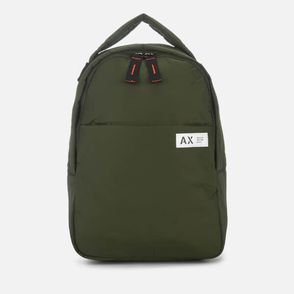 Armani Exchange Men's Padded Nylon Backpack - Climbing Ivy