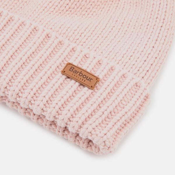 Barbour Women s Cable Hat   Scarf Set - Pink  Image 5 3b524dd664d