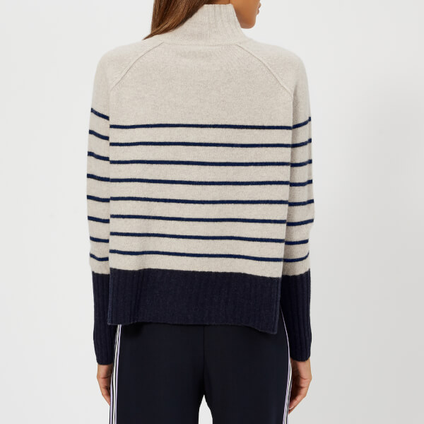 b5aa922785987 Whistles Women s Stripe Funnel Neck Wool Knitted Jumper - Multi  Image 2