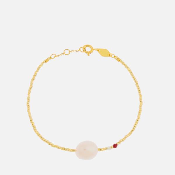 Anni Lu Women's Baroque Pearl Bracelet - Laurel Green