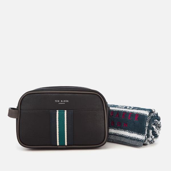 74178a3df2d78 Ted Baker Men s Smitset Webbing Wash Bag and Towel Set - Black  Image 1