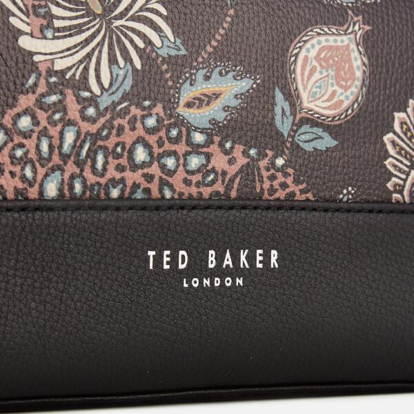 Ted Baker Men s Clubb Printed Leather Wash Bag - Black Mens ... 29fa9c3fb12ce