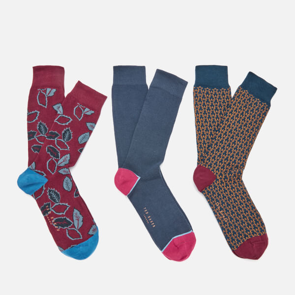 7851c428297ff2 Ted Baker Men s Bell Three Pack Socks - Assorted Mens Clothing ...