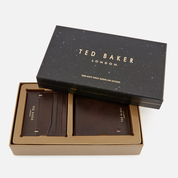 2acd3d912 Ted Baker Men s Taglee Wallet and Card Holder Giftset - Chocolate  Image 1