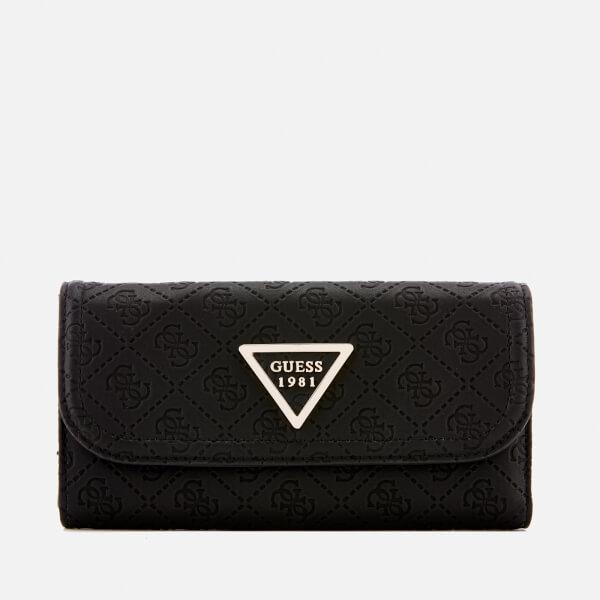 Guess Women's Lyra Pocket Trifold Purse - Black