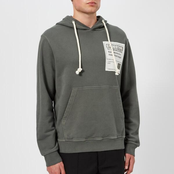 Maison Margiela Men's Garment Dyed Replica Hoody - Dark Grey