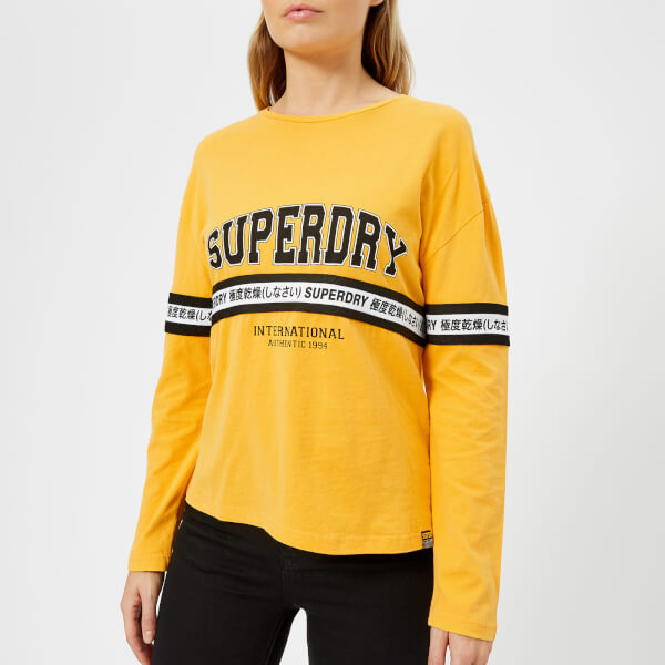 Superdry Women's Tape Graphic Top - Sporty Ochre: Image 01