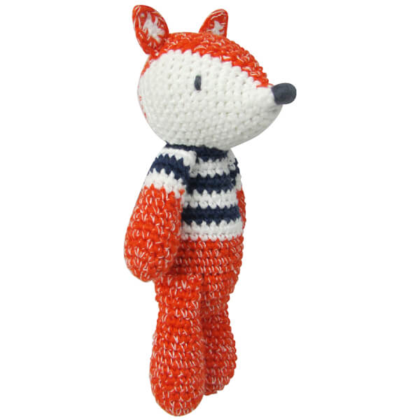Albetta Crochet Fox Rattle Toy