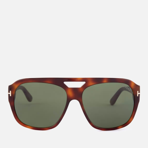 8eba18654664 Tom Ford Men s Bachardy Sunglasses - Dark Havana Green Mens ...