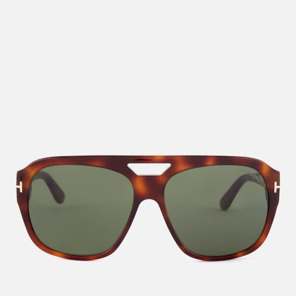 Tom Ford Men's Bachardy Sunglasses - Dark Havana/Green