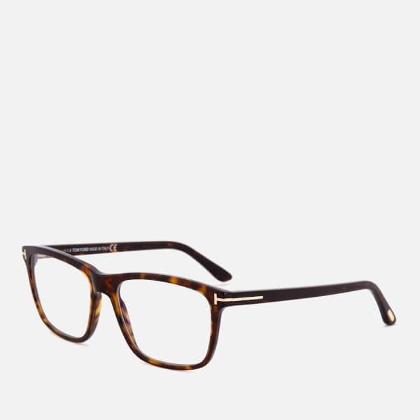 333a5e07a0 Tom Ford Men s Blue Block Square Glasses - Dark Havana Mens ...