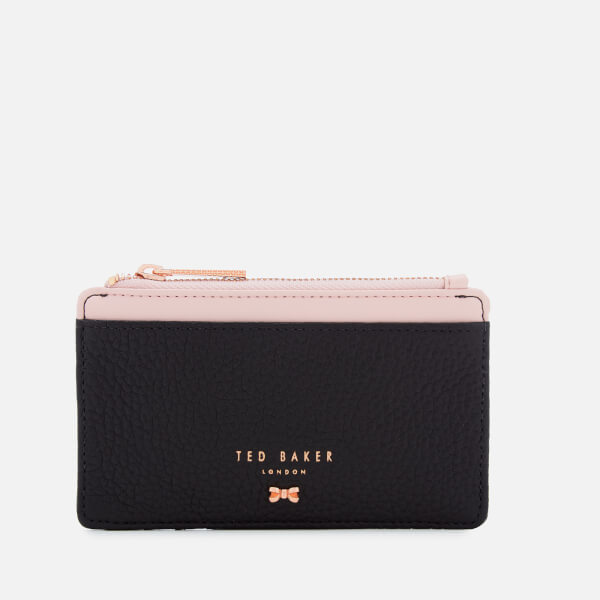 ec13bfb8043793 Ted Baker Women s Lori Textured Zipped Credit Card Holder - Black  Image 1